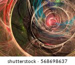 futuristic or esoteric fractal... | Shutterstock . vector #568698637