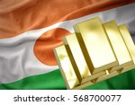 gold reserves. shining golden... | Shutterstock . vector #568700077