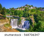 jajce town in bosnia and... | Shutterstock . vector #568706347