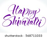 happy shivaratri greeting card. ... | Shutterstock .eps vector #568711033