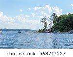 Boats Anchored In Lake Michiga...