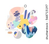trendy creative collage with... | Shutterstock .eps vector #568715197
