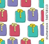 seamless pattern of shirts or t ... | Shutterstock .eps vector #568718113