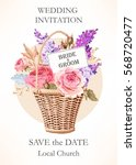 vintage wedding invitation | Shutterstock .eps vector #568720477