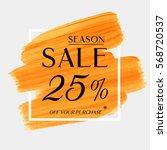 sale season 25  off sign over... | Shutterstock .eps vector #568720537