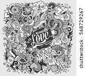 cartoon cute doodles hand drawn ... | Shutterstock .eps vector #568729267