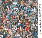 cartoon cute doodles hand drawn ... | Shutterstock .eps vector #568729297