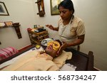 ayurveda panchakarma  the city... | Shutterstock . vector #568734247