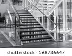 indoors stairs in a modern... | Shutterstock . vector #568736647