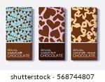 vector set of chocolate bar... | Shutterstock .eps vector #568744807