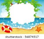 summer tropical banner  vector... | Shutterstock .eps vector #56874517