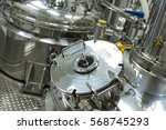 close picture of steel chromed... | Shutterstock . vector #568745293