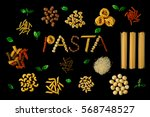 italian food concept and menu... | Shutterstock . vector #568748527