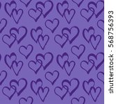 seamless pattern with hearts.... | Shutterstock .eps vector #568756393