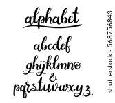 modern calligraphy  handwritten ...   Shutterstock .eps vector #568756843
