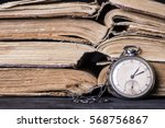 decaying clock on the... | Shutterstock . vector #568756867