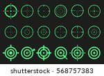 target set icons sight sniper... | Shutterstock .eps vector #568757383