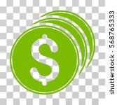 dollar coins icon. vector... | Shutterstock .eps vector #568765333