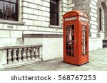 red phone box in london  united ... | Shutterstock . vector #568767253