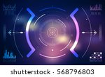 hud ui and infographic elements.... | Shutterstock .eps vector #568796803