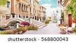 digital fresco. venicie   Shutterstock . vector #568800043