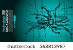hi tech circuits fantastic... | Shutterstock .eps vector #568813987