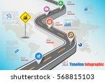 design template  road map... | Shutterstock .eps vector #568815103
