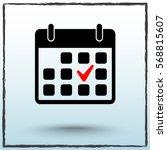 calendar sign icons  vector... | Shutterstock .eps vector #568815607