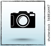 photo camera sign icon  vector... | Shutterstock .eps vector #568816447