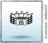 stadium sign icon  vector... | Shutterstock .eps vector #568816537