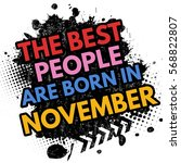 the best people are born in... | Shutterstock .eps vector #568822807