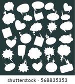 a set of comic speech bubbles... | Shutterstock .eps vector #568835353