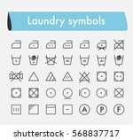 laundry symbols cleaning line... | Shutterstock .eps vector #568837717