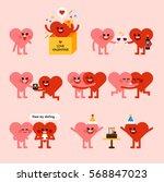 valentine's day heart character ...   Shutterstock .eps vector #568847023