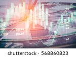 stock market trading graph and... | Shutterstock . vector #568860823
