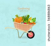 Vintage Garden Wheelbarrow Wit...