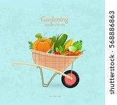 Vintage Garden Wheelbarrow Wit...