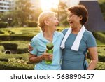 senior adult friendship... | Shutterstock . vector #568890457