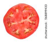 Fresh Red Tomato Slice Isolate...