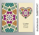 card or invitation template set.... | Shutterstock .eps vector #568899547