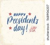 happy president's day vintage... | Shutterstock .eps vector #568906207