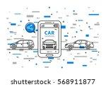 car sharing vector illustration....   Shutterstock .eps vector #568911877
