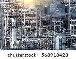 pipelines and petrochemical... | Shutterstock . vector #568918423