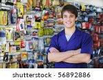 portrait of the proud owner of... | Shutterstock . vector #56892886