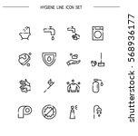 hygiene flat icon set.... | Shutterstock .eps vector #568936177