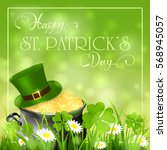 patricks day background with...   Shutterstock .eps vector #568945057