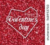 happy valentines day design... | Shutterstock .eps vector #568953703