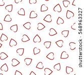 abstract seamless heart pattern | Shutterstock .eps vector #568963327