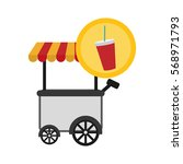 fast food cart icon image... | Shutterstock .eps vector #568971793