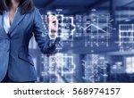 woman engineer at work . mixed... | Shutterstock . vector #568974157
